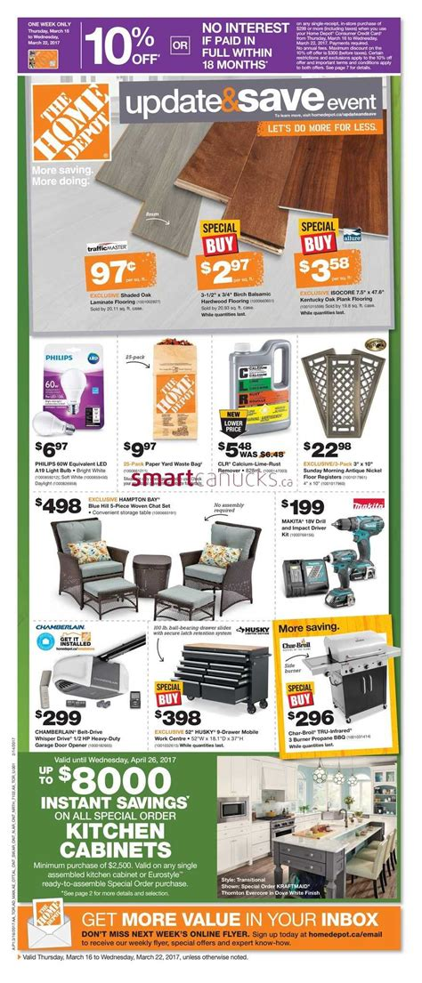 home depot on flyer march 16 to 22