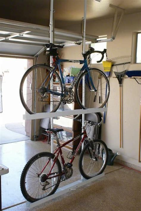 Garage Ceiling Bike Rack by 17 Best Ideas About Garage Bike Storage On