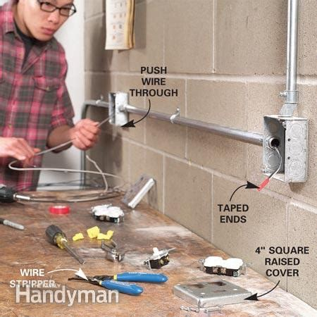 how to install surface mounted wiring and conduit the