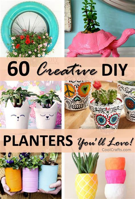 diy planter ideas 1000 ideas about flower pots on outdoor