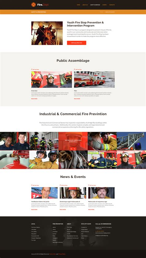 themes wordpress dep fire department fire station and security wp theme by