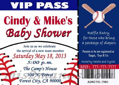 7 Best Images Of Printable Baseball Invitations Free Printable Sports Birthday Party Baby Shower Ticket Invitation Template