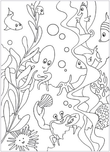 coloring page of under the sea under the sea coloring pages mr printables