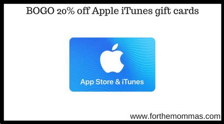 Apple Gift Card Promo Code - target bogo 20 off apple itunes gift cards online in store ftm