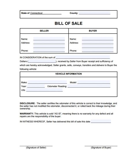 car bill of sale template best of vehicle bill sale template