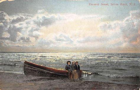sylvan row boats sylvan beach new york row boat on shore sunset antique
