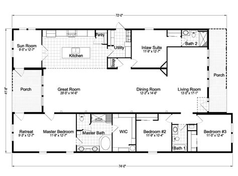 casita home plans casita iii tdx4746c home floor plan manufactured and or