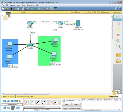 cisco packet tracer dhcp tutorial computers and nothing else packet tracer setting up and