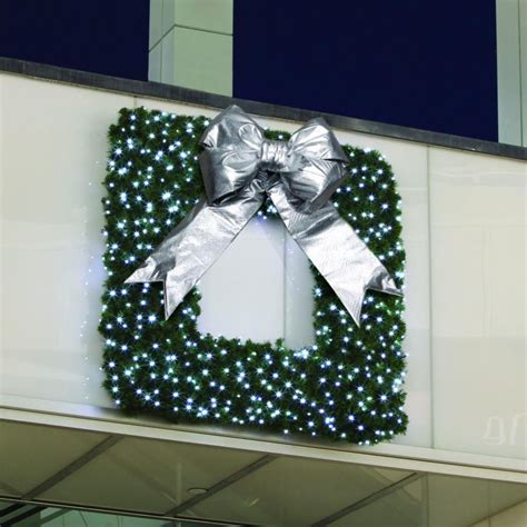 square framed commercial wreath commercial christmas