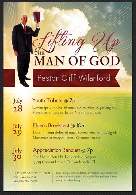 pastor appreciation church flyer template by godserv on
