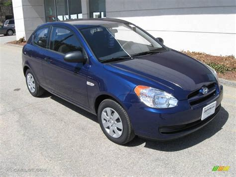 Blue Hyundai Accent by 2008 Sapphire Blue Hyundai Accent Gs Coupe 7663331