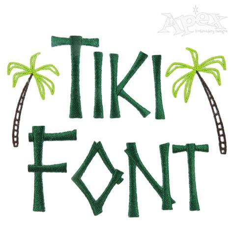Tiki Hut Font kona tiki font pack embroidery fonts