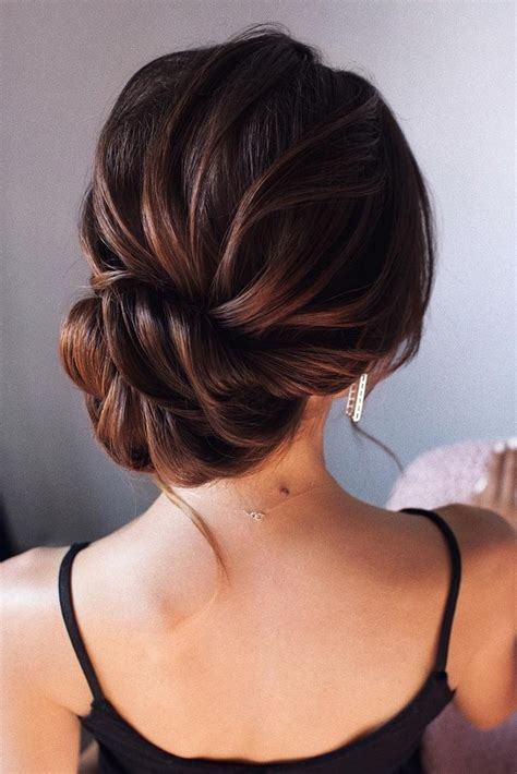 15 stunning low bun updo wedding hairstyles from