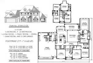 Five Bedroom Home Plans 5 Bedroom To Estate Under 4500 Sq Ft