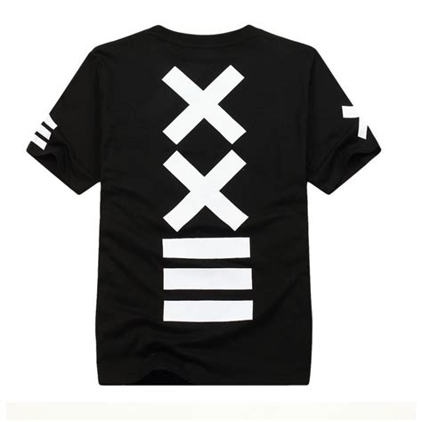 T Shirt Swag xxii hip hop black and white shirt with white cross swag