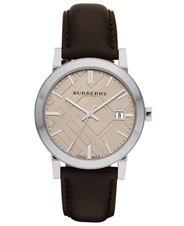burberry s swiss smooth brown leather