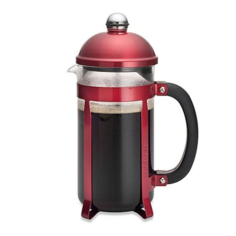bed bath and beyond french press bonjour 174 coffee and tea maximus 8 cup french press in red