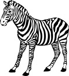 Zebra Outline Coloring Page by Zebra Clip At Clker Vector Clip Royalty Free Domain
