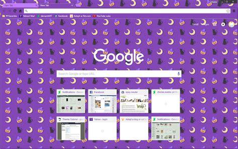cute themes google chrome cute happy halloween google chrome theme by sleepy