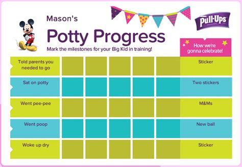 how to use a potty training chart and visual schedule for potty training
