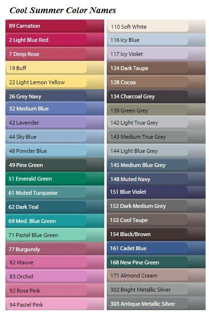 cool color names 25 best ideas about cool summer palette on pinterest