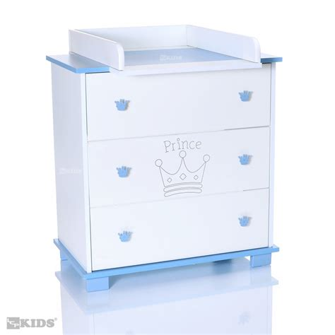 Baby Changing Table With Drawers Baby Chest Of Drawers With Changing Table Removeable Unit 3 Drawers Prince Blue Ebay