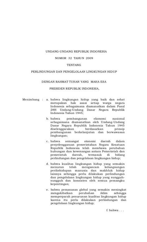 Uu Ri No 32 Dan 33 Tahun 2004 Tentang Otoda 2004 2010 undang undang no 32 tahun 2009 tentang perlindungan dan pengelolaan