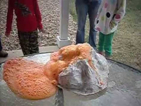 How To Make A Paper Mache Volcano Explode - paper mache volcano erupts