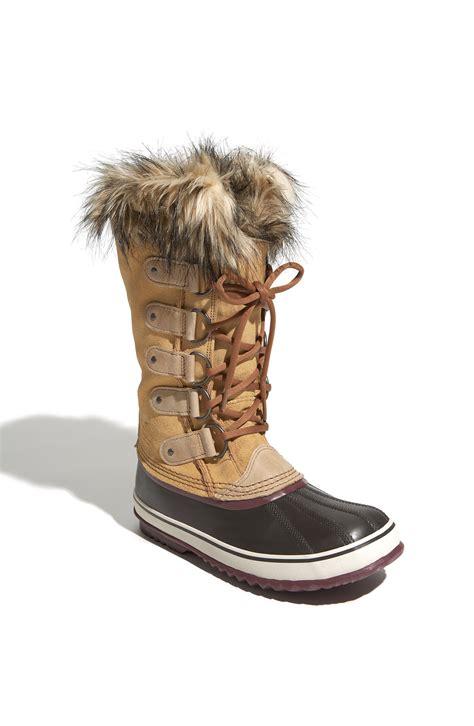 joan of arctic boot sorel joan of arctic boot in brown lyst