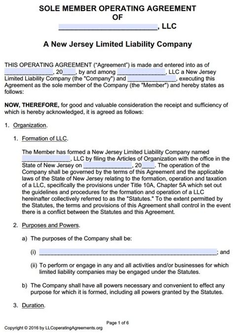 Operating Agreement Template Free Free Texas Llc Operating Agreement Template Pdf Word Sle Operating Agreement For Single Member Llc Template