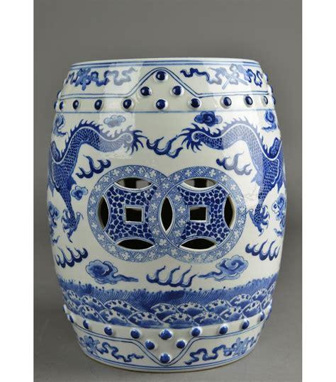 Blue White Porcelain Garden Stool by Blue White Porcelain Garden Stool