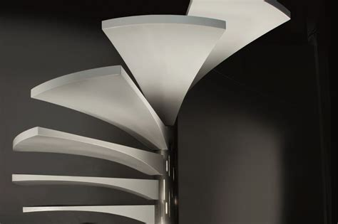 Corian Handrail by Designer Spiral Staircase Images Stairs Etc