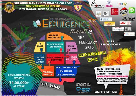 themes for engineering college fests effulgence 2015 sri guru nanak dev khalsa college