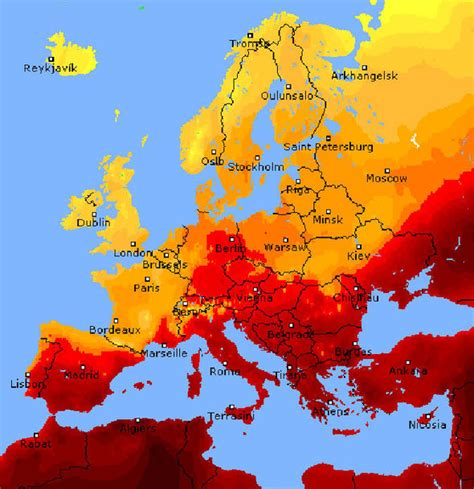 spain netherlands heat map lucifer heatwave mapped where are the