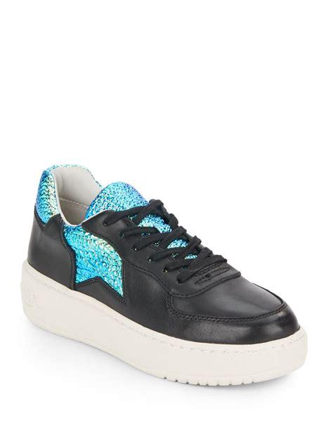ash black sneakers ash leather sneakers in black lyst