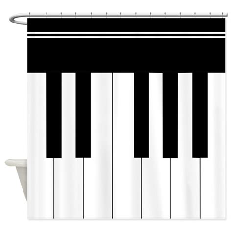 piano shower curtain piano keyboard shower curtain by inspirationzstore