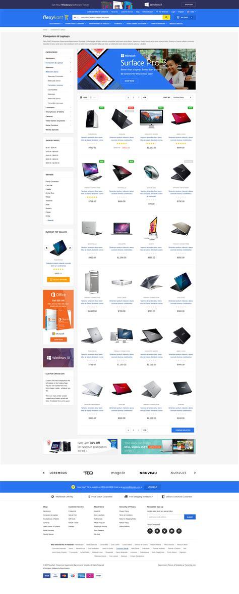 Flexykart Premium Responsive Bigcommerce Template Stencil Ready Themevale Com Bigcommerce Stencil Templates