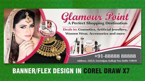 banner design in coreldraw x7 flex design in coreldraw x7 billboard design beauty