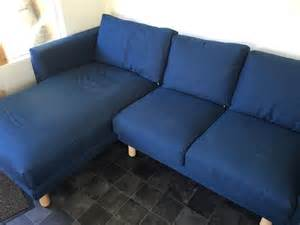 Leather Armchair For Sale Ikea Norsborg Two Seat Sofa With Chaise Longue Dark Blue