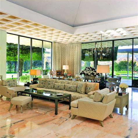 the living room of the sunnylands estate house which