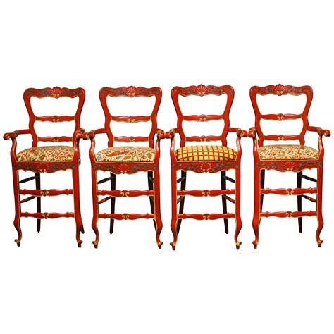 Country Bar Stools With Back by Carved Wood Country Bar Stools With Back And Arms Decofurnish