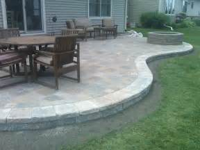 paver patios here s a raised curved paver patio