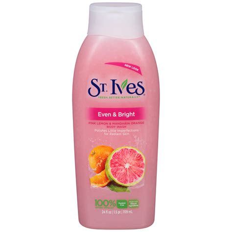 St Ives Even And Bright Pink Lemon And Mandarin Orange Wash 24oz st ives wash even bright pink lemon mandarin orange 24 fl oz