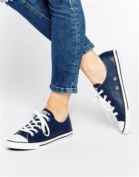Converse Original Low Navy converse dainty low top time navy shoes 9229081