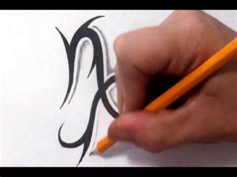 capricorn tattoos how to draw a simple tribal star sign