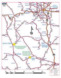 arkansas river map colorado highway road city map
