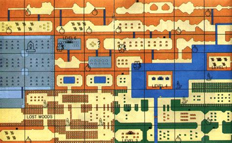 legend of zelda nes map first quest the legend of zelda overworld map