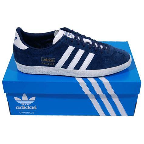 adidas originals gazelle og suede indigo mens shoes from attic clothing uk