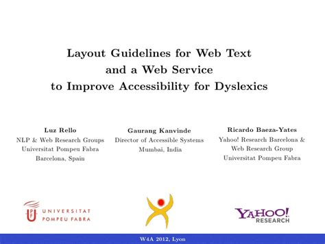 Text Layout Guidelines | luz rello gaurang kanvinde ricardo baeza yates layout