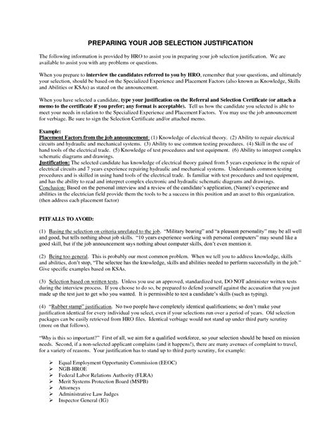 Justification Letter For Course Best Photos Of Justification Statement Exle Justification Report Exles Justification
